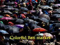 Colorful Bati market