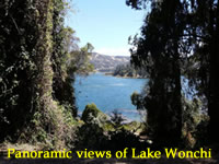 Panoramic views of Lake Wonchi